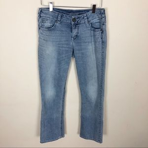 Silver Jeans Suki Capri - medium wash